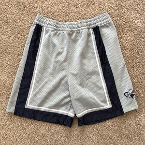 Vintage And 1 Basketball Gray & Navy Blue Shorts